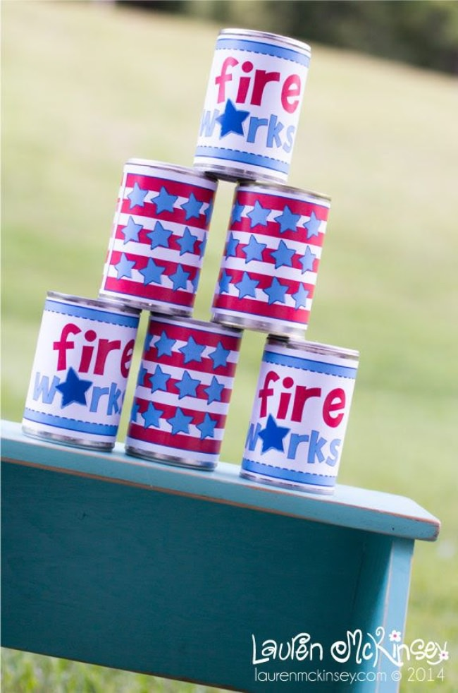 Tin Can Toss {free printable}