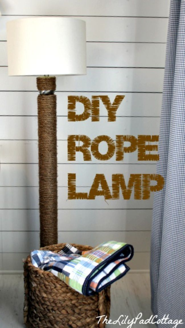 DIY Rope Lamp