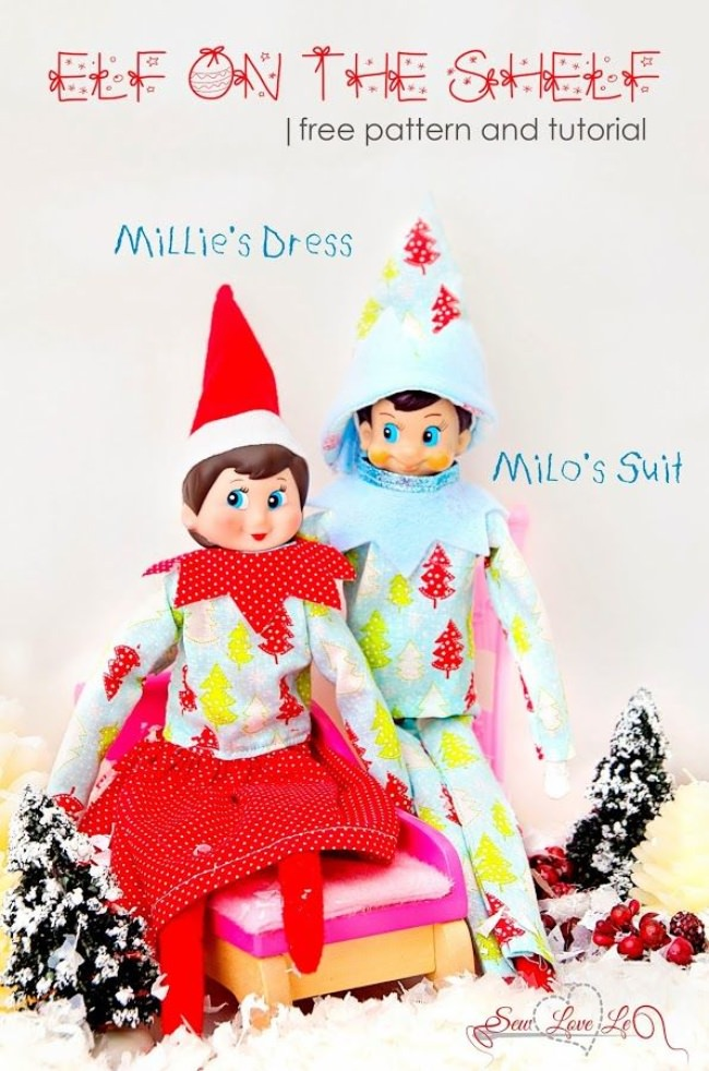 Elf on the Shelf Clothing {free pattern}