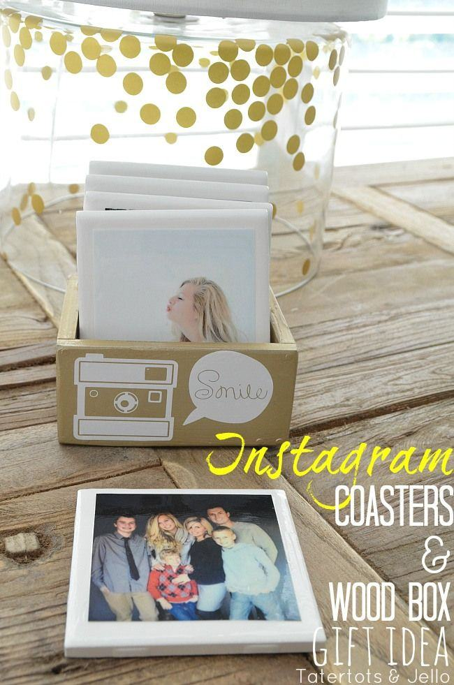 DIY Instagram Coasters & Custom Box