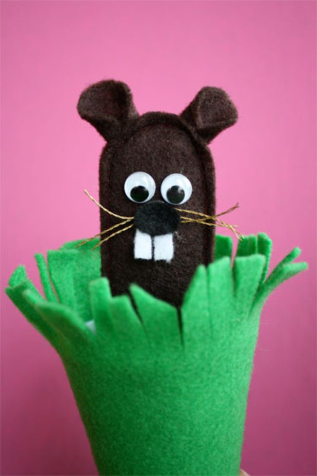 Felt Ground Hog Puppet