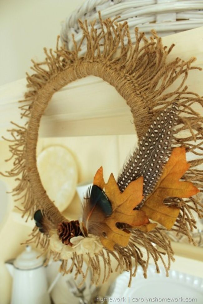 Twine Sunburst Wreath