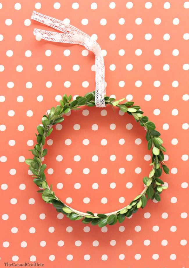 Simple Boxwood Wreath