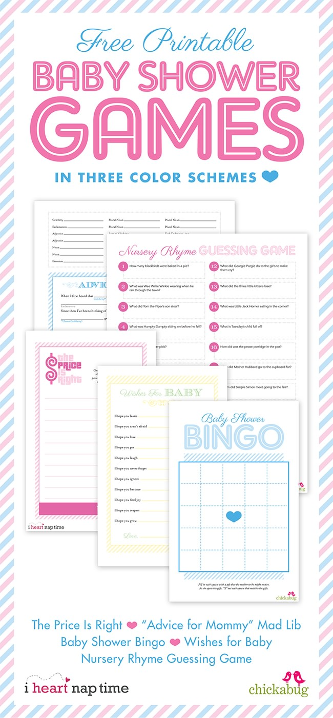 Baby Shower Games {free printables}
