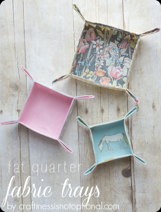 Fat Quarter Fabric Trays