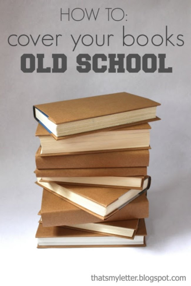 How to Cover Your Books {old school}