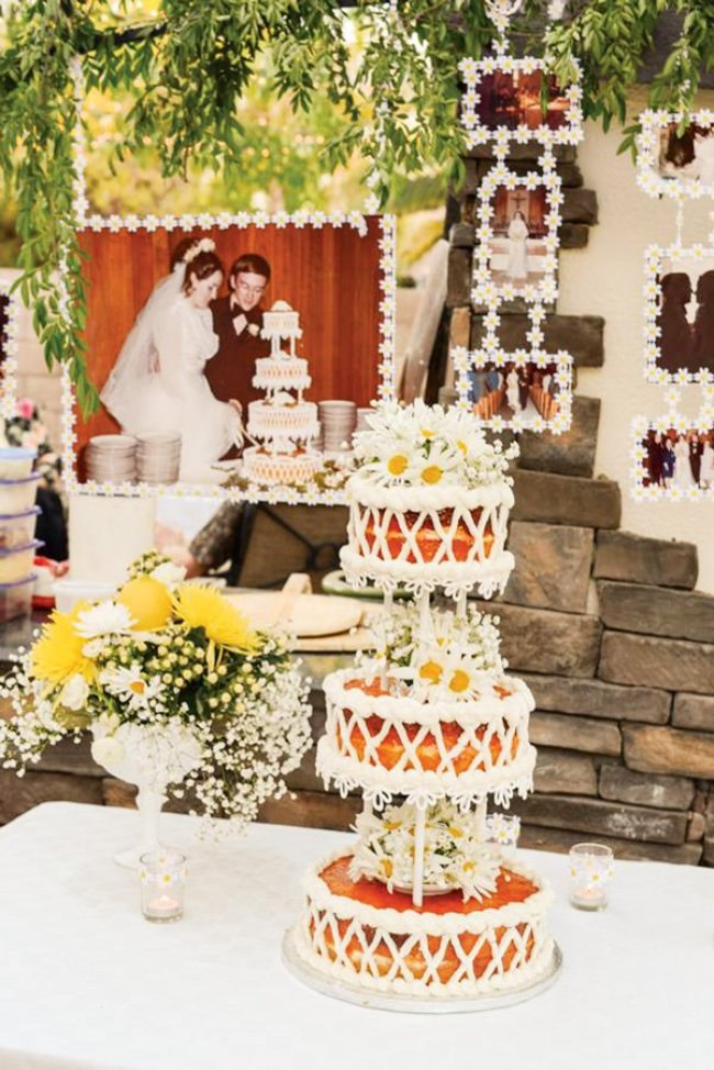 40th anniversary ideas for couples tip junkie for Backyard engagement party decoration ideas