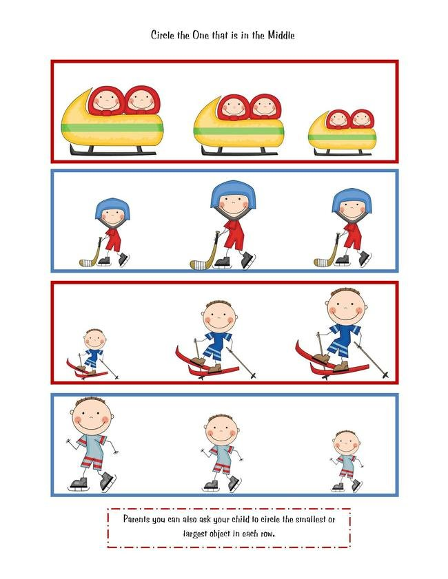 Winter Olympic Printable {preschool worksheets}