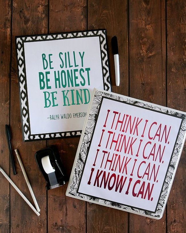 Inspirational School Binder Printables