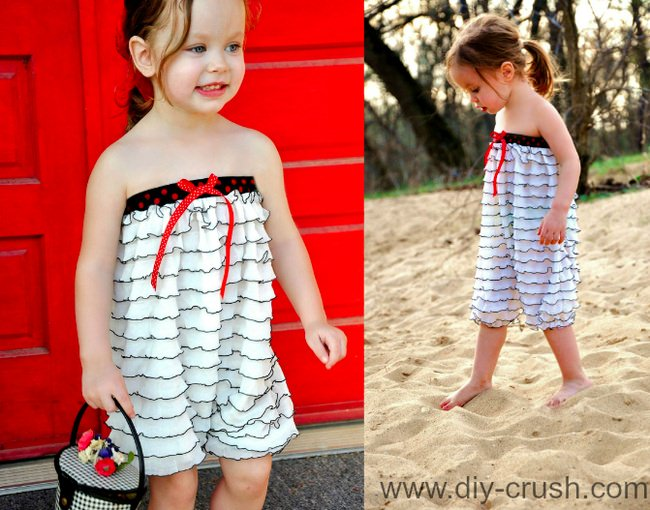 Use Decorative Elastic on a Romper