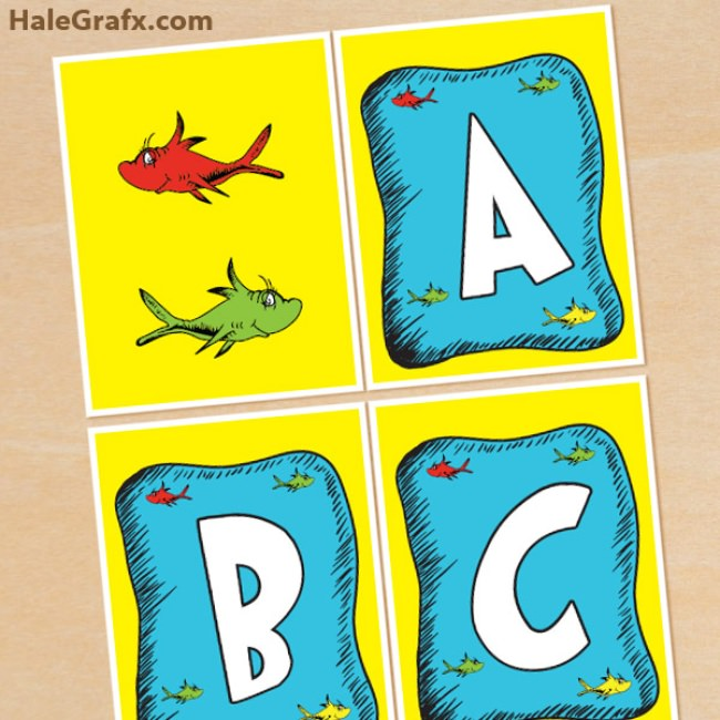 Dr. Seuss Fish Alphabet Banner Pack