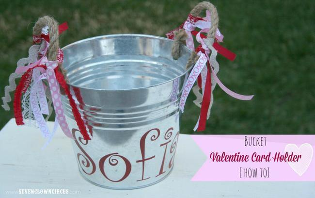 Bucket Valentine Card Holder