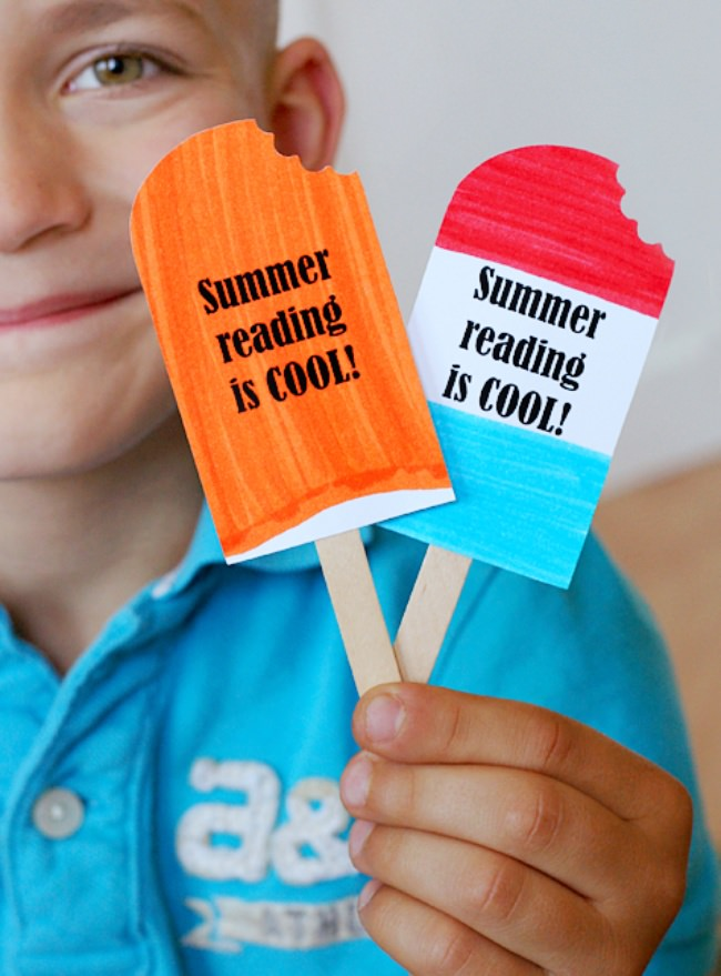 Popsicle Bookmark {free printable}