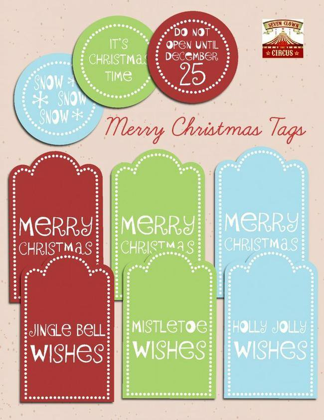 Printable Christmas Tags {free}
