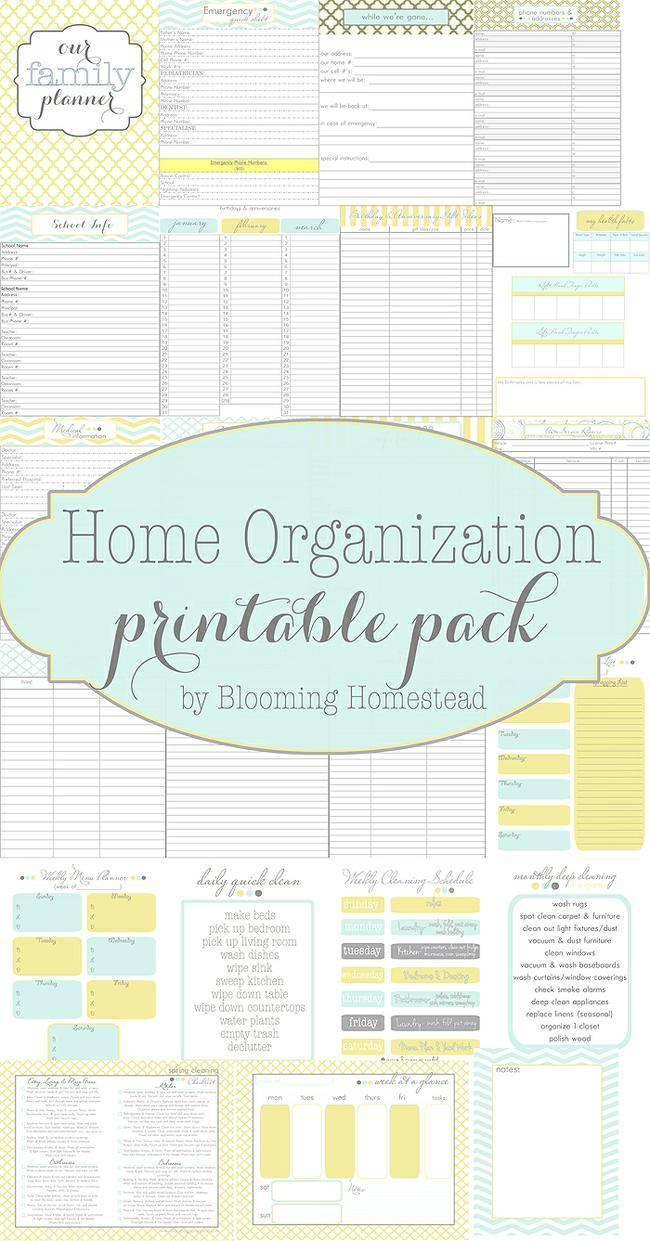 Home-Organizational-Printable's