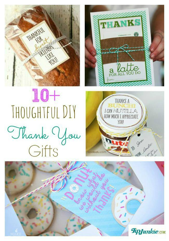 11 Thoughtful Diy Thank You Gifts Tip Junkie