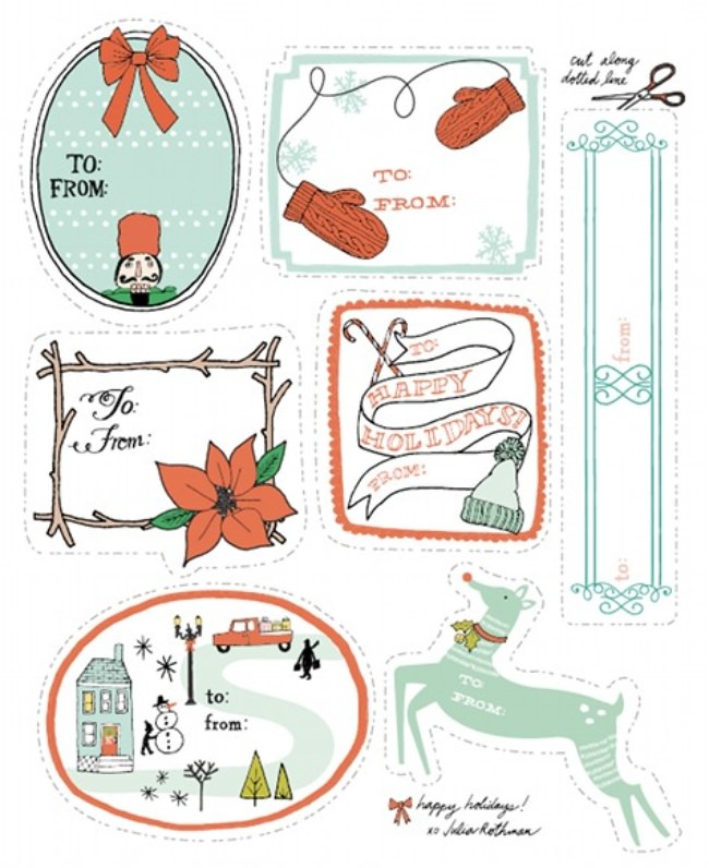 Downloadable Holiday Gift Tags