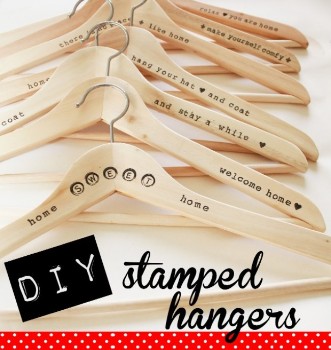 Stamped Wood Hangers {Closet}