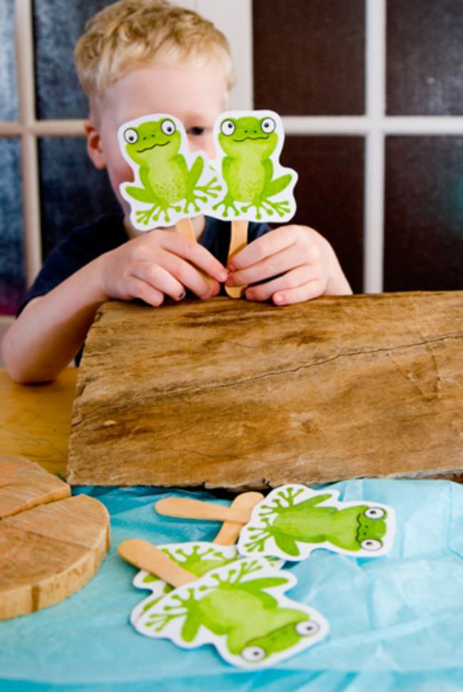 Five Green Frogs Music Printable