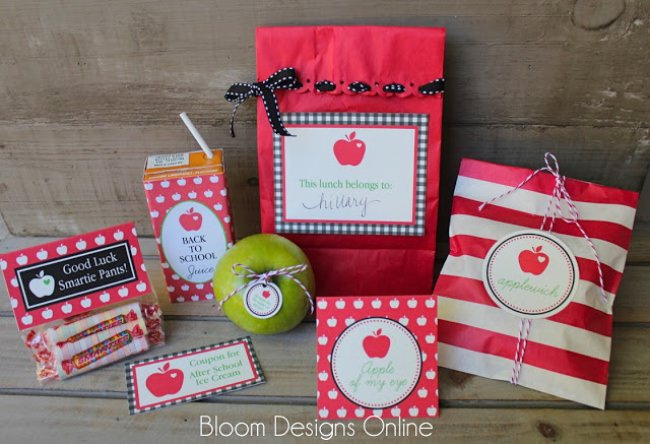 First Day of School Lunch {free printables}