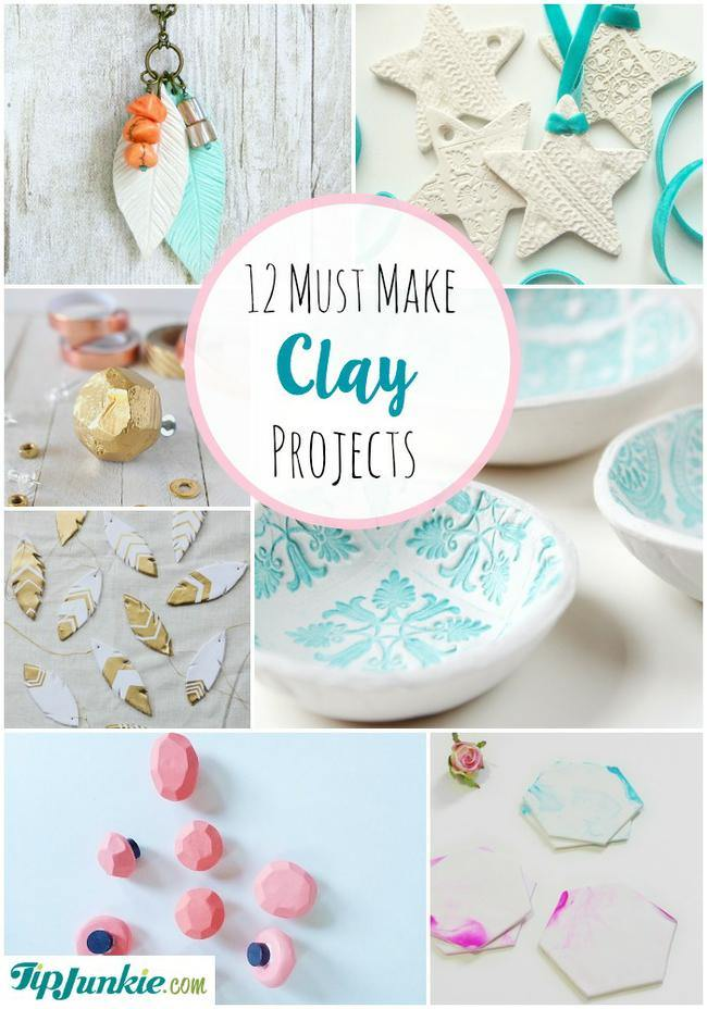 12 must make clay projects tip junkie for Clay making ideas