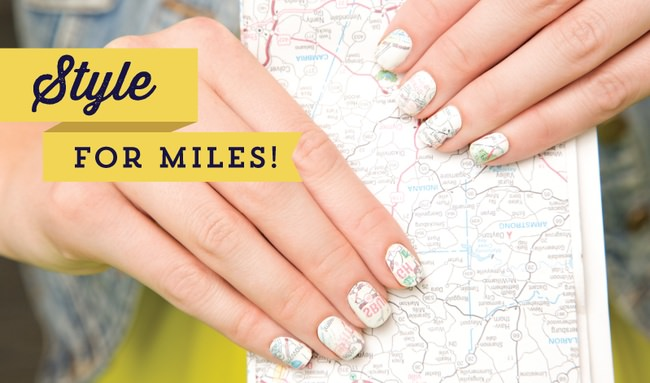 DIY Map Nail Transfers