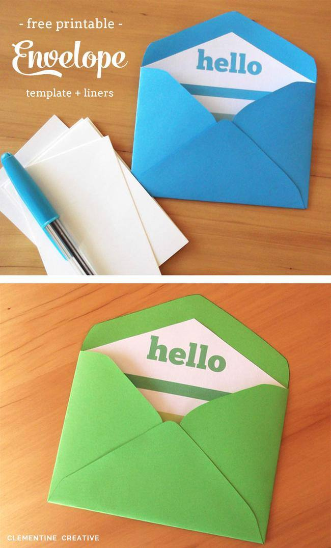 Free Printable Envelope Template & Liner