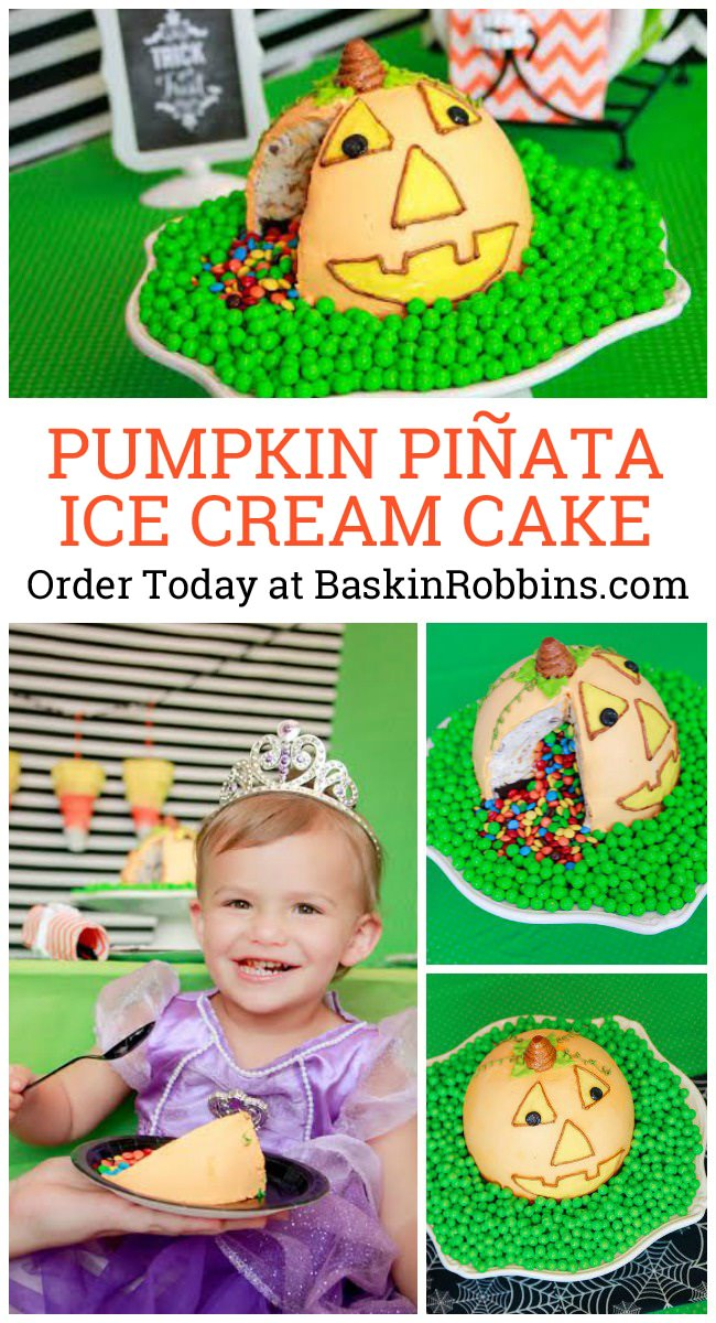 Baskin-Robbins Piñata Pumpkin Patch Cake Tablescape