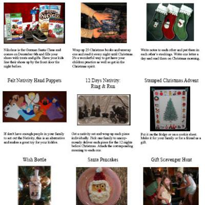 17 Christmas Traditions {free printable}
