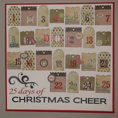Advent Calendar Plaque
