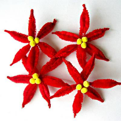 Chenille Stem Poinsettias