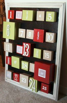 Christmas Boxes Count Down Calendar {to-make}