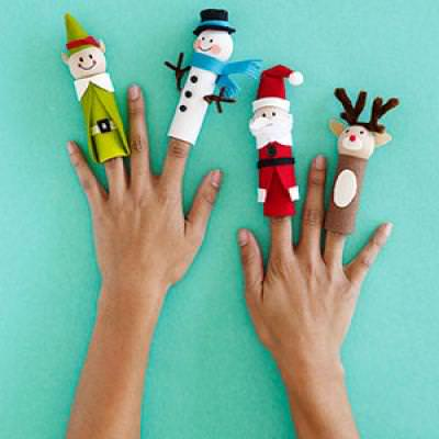 Christmas Finger Puppets {Christmas Activities for Kids}