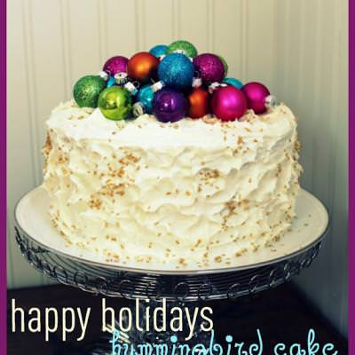 Colors of Christmas Hummingbird Cake
