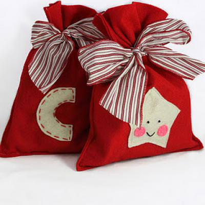 Reusable Christmas Gift Bag Tutorial