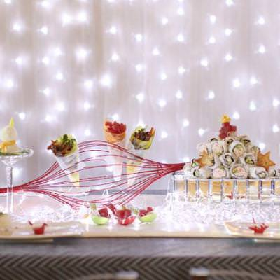 Sushi Inspired Holiday Party {Christmas Party Themes}