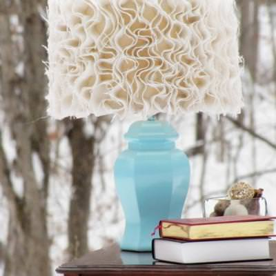Anthropologie Inspired Ruffled Lampshade {step by step}