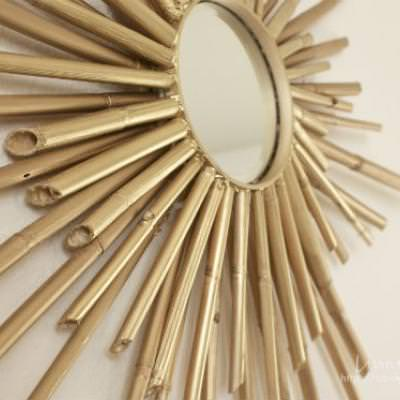 Bamboo Sunburst Mirror {step by step}
