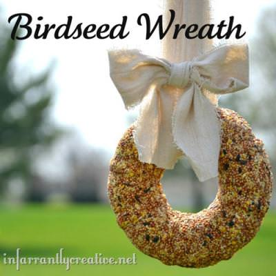 Birdseed Wreath {outdoors}