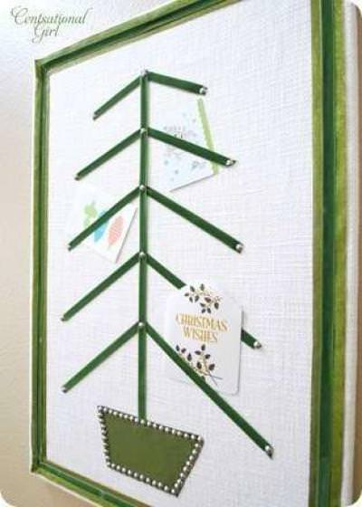 {Bulletin Board} Turned Christmas Card Holder
