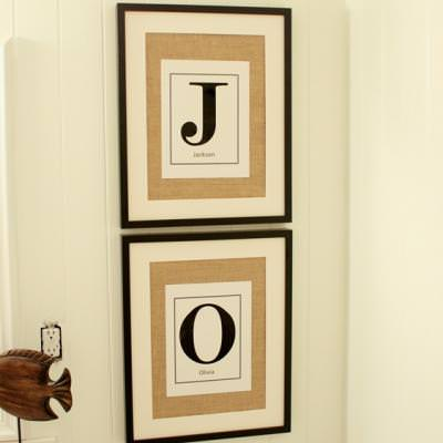 Burlap Monogram Art {wall decor}
