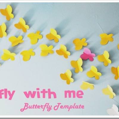 Butterfly Wall Decor Template. Good Diy How To Make Beautiful Cheap ...