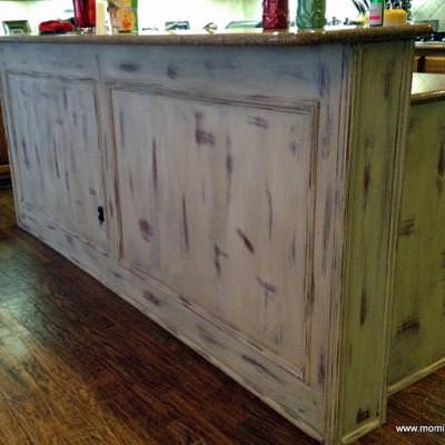 Chalk Paint Kitchen Island {before and after}