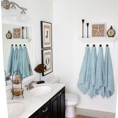 Coastal Bathroom {before and after}