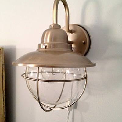Converting Sconces {DIY light}