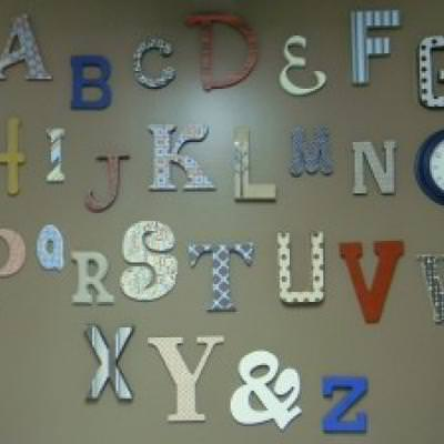 DIY Alphabet Wall {typography}
