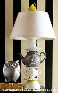 DIY Anthropologie Teacup Lamp {diy light}