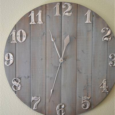 DIY Clock {trash to treasure}