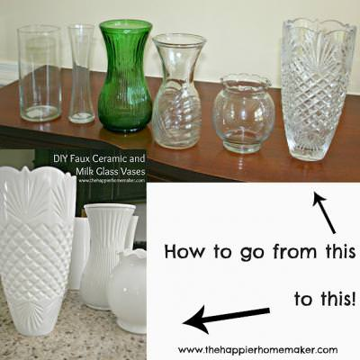 DIY Faux Ceramic Vases