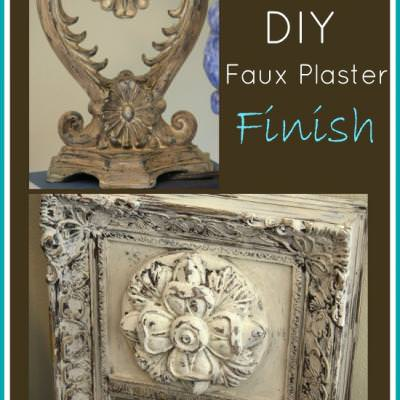 DIY Faux Plaster Paint Finish for Trash to Treasure Projects